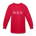 red ThInK Periodic Table Kids' Long Sleeve T-Shirt