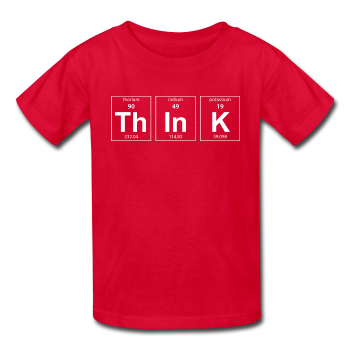 Red ThInK Periodic Table Kids' T-Shirt