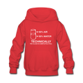 Red Technically Full Glass Kids' Hoodie