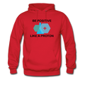"""Be Positive"" (black) - Men's Hoodie - Hoodie - ScienceT-Shirts"