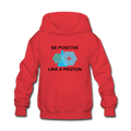 """Be Positive"" (black) - Kids' Hoodie - Hoodie - ScienceT-Shirts"