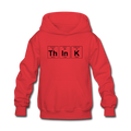 "Red ""ThInK Periodic Table"" - Kids' Hoodie"