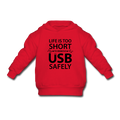 "UNPUBLISHED - Spreadshirt Article not found | UNPUBLISHED - Spreadshirt Article not found | ""Life is too Short"" (black) - Toddler Hoodie - Hoodie - ScienceT-Shirts"
