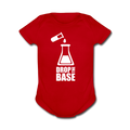 """Drop the Base"" - Baby Short Sleeve One Piece - One Piece - ScienceT-Shirts"