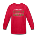 Red Stand Back I'm Going To Try Science Kids' Long Sleeve T-Shirt