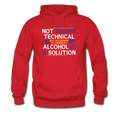 red Alcohol Is A Solution Men's Hoodie