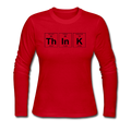 """ThInK"" (black) - Women's Long Sleeve T-Shirt"