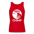 """98% Chimp"" -  Women's Longer Length Fitted Tank - Tank Top - ScienceT-Shirts"