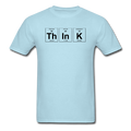 Light Blue Think Periodic Table Science Men's T-Shirt