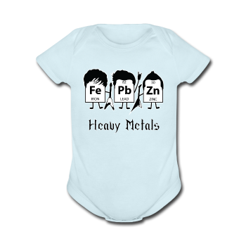 """Heavy Metals"" - Baby Short Sleeve One Piece - One Piece - ScienceT-Shirts"