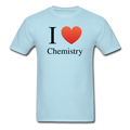 """I ♥ Chemistry"" (black) - Men's T-Shirt - T-Shirt - ScienceT-Shirts"