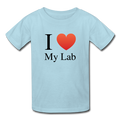 """I ♥ My Lab"" (black) - Kids' T-Shirt - T-Shirt - ScienceT-Shirts"