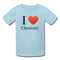 """I ♥ Chemistry"" (black) - Kids' T-Shirt - T-Shirt - ScienceT-Shirts"