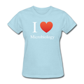 """I ♥ Microbiology"" (white) - Women's T-Shirt - T-Shirt - ScienceT-Shirts"