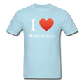 """I ♥ Microbiology"" (white) - Men's T-Shirt - T-Shirt - ScienceT-Shirts"