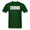 green BaCoN Periodic Table Men's Science T-Shirt