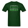 Green Stand Back I'm Going To Try Science Men's T-Shirt