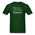 Green Technically The Glass Is Completely Full Men's Science T-Shirt