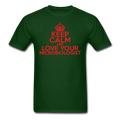 """Keep Calm and Love Your Microbiologist"" (red) - Men's T-Shirt - T-Shirt - ScienceT-Shirts"