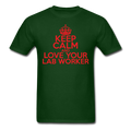 """Keep Calm and Love Your Lab Worker"" (red) - Men's T-Shirt - T-Shirt - ScienceT-Shirts"