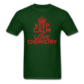 """Keep Calm and Love Chemistry"" (red) - Men's T-Shirt - T-Shirt - ScienceT-Shirts"