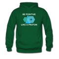 """Be Positive"" (white) - Men's Hoodie - Hoodie - ScienceT-Shirts"