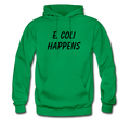 """E. Coli Happens"" (black) - Men's Hoodie - Hoodie - ScienceT-Shirts"