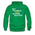 Green Alcohol Is A Solution Men's Hoodie