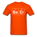 Orange BeEr Periodic Table Science Men's T-Shirt