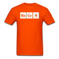 Orange BaCoN Periodic Table Men's Science T-Shirt