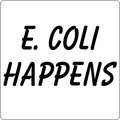 """E. Coli Happens"" (black) - Kids' Long Sleeve T-Shirt - Long Sleeve Shirt - ScienceT-Shirts"