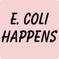 """E. Coli Happens"" (black) - Baby Long Sleeve One Piece - One Piece - ScienceT-Shirts"