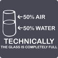 """Technically the Glass is Full"" - Kids' Long Sleeve T-Shirt"