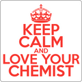 """Keep Calm and Love Your Chemist"" (red) - Men's T-Shirt - T-Shirt - ScienceT-Shirts"