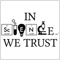 """In Science We Trust"" (black) - Baby Lap Shoulder T-Shirt"