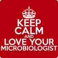 """Keep Calm and Love Your Microbiologist"" (white) - Men's T-Shirt - T-Shirt - ScienceT-Shirts"