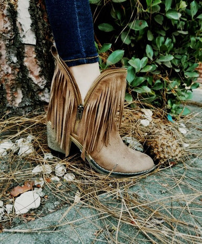 ZZ-In The Fringe Booties