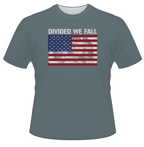 Divided We Fall Weathered American Flag T-Shirt