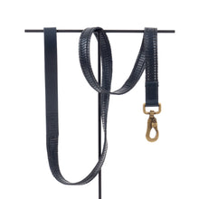 Midnight Blue Woven Leather Lead