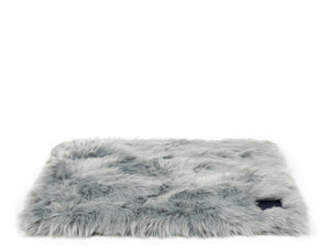 Slate Grey Faux Fur Bed