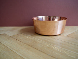 Solid Copper Dog Bowl