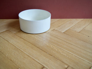 Bone White Ceramic Dog Bowl