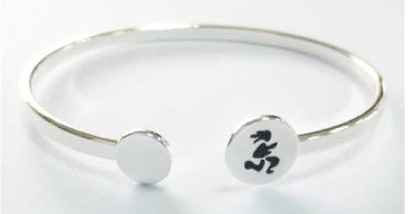 Runner Girl Silver Plated Bangle