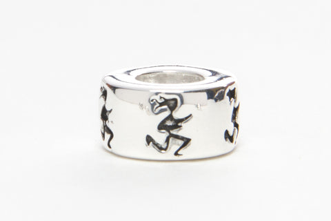 Runner Girl Silver Plated Bead
