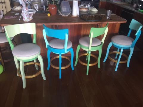 Say Aloha To These Vibrantly Painted Stools