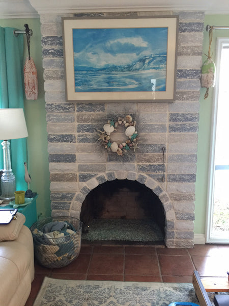 Warm Up White Fireplace Bricks Using Chalky Paints