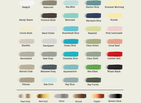 38 beautiful Chalky Paint colors to choose from