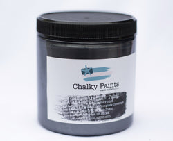 Black Metallic Paint 8 oz. - Chalky Paints & Finishes