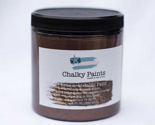 Bronze Metallic Paint 8 oz. - Chalky Paints & Finishes