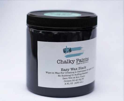 Black Tinted Easy Wax 8 oz. - Chalky Paints & Finishes